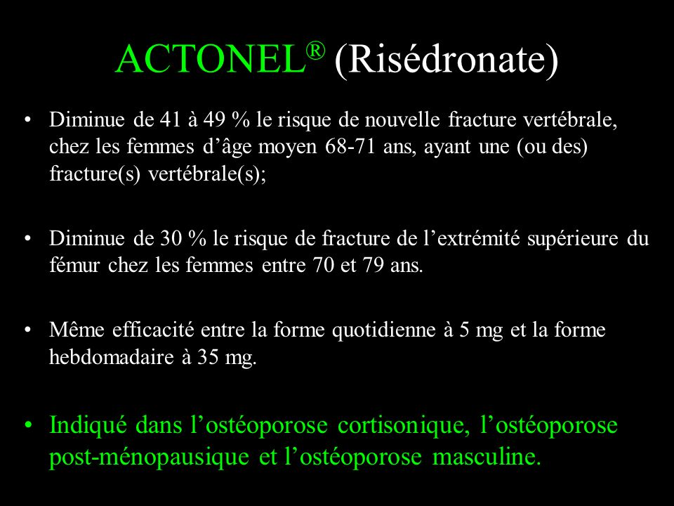 ACTONEL® (Risédronate)