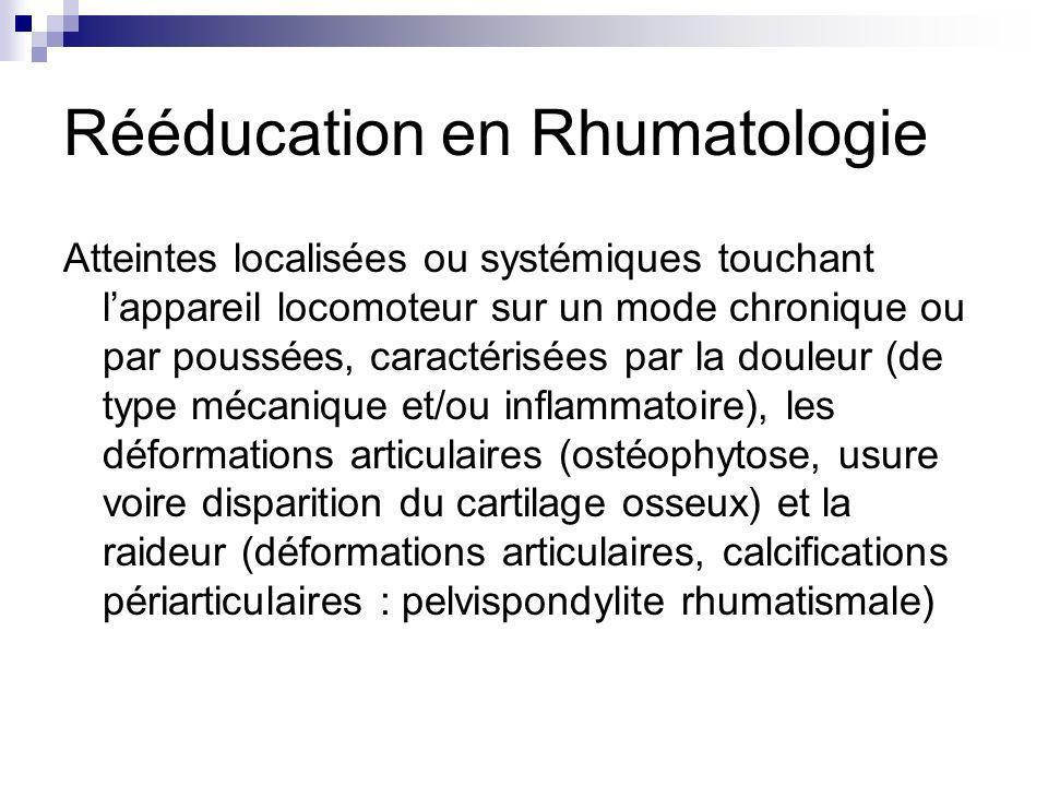 Rééducation en Rhumatologie