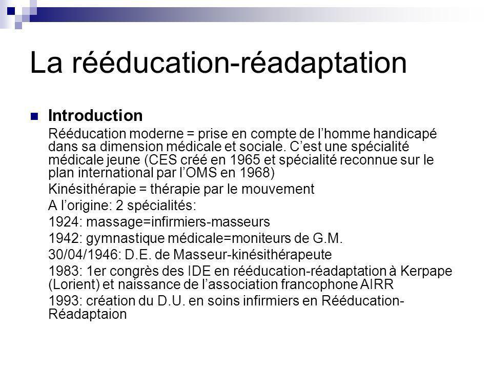 La rééducation-réadaptation