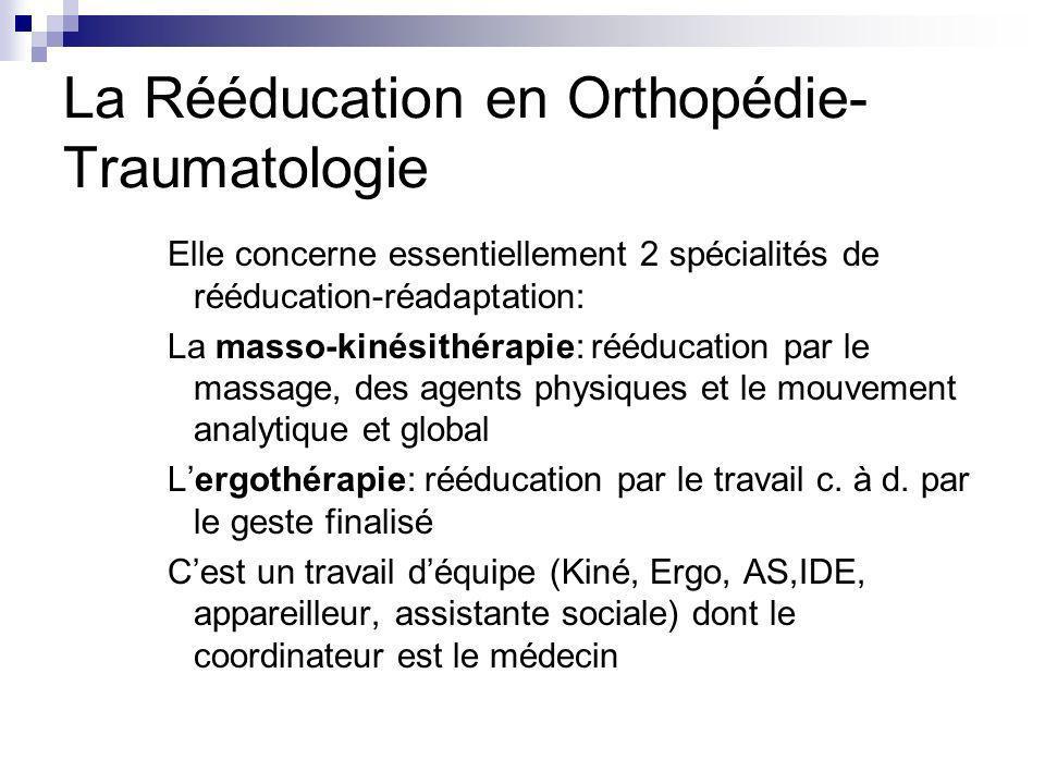 La Rééducation en Orthopédie-Traumatologie