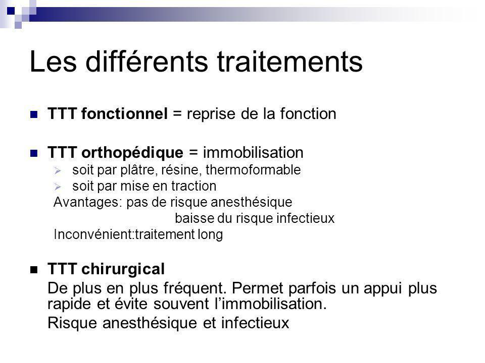 Les différents traitements