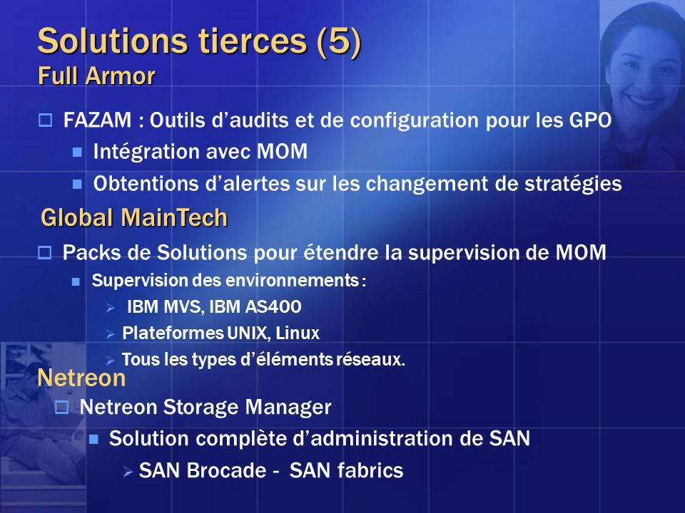 Solutions tierces (5) Full Armor