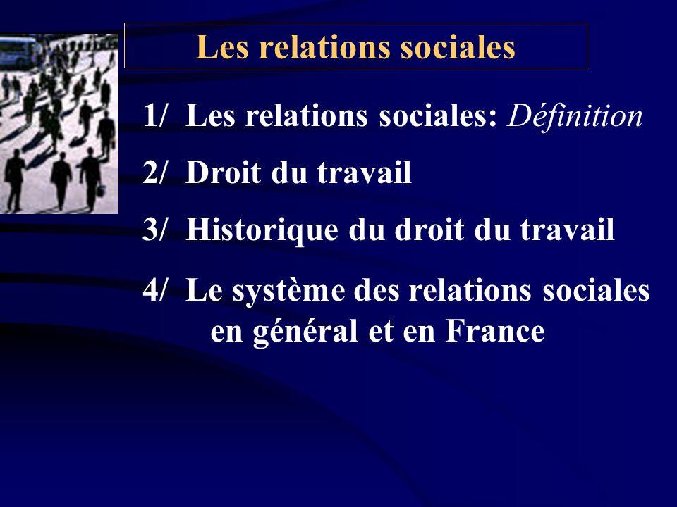Les relations sociales