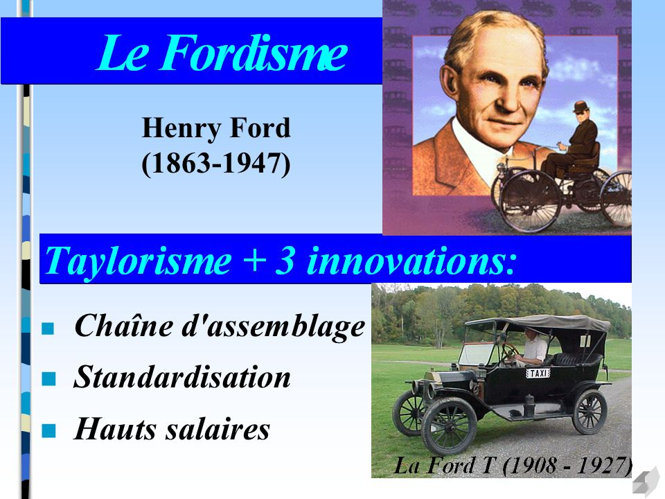 Standardisation Hauts salaires Henry Ford (1863-1947)