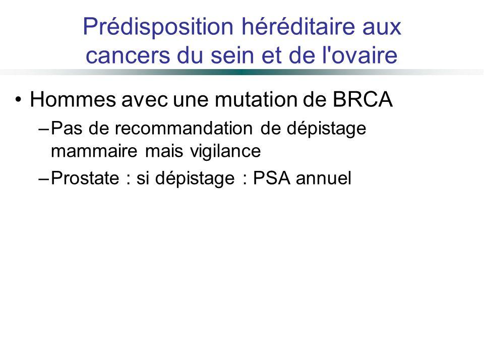 Prédisposition héréditaire aux cancers du sein et de l ovaire