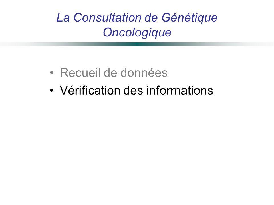 La Consultation de Génétique Oncologique