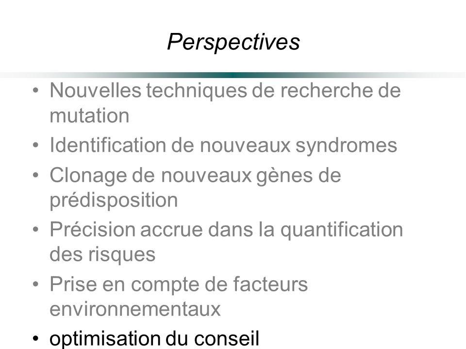 Perspectives Nouvelles techniques de recherche de mutation