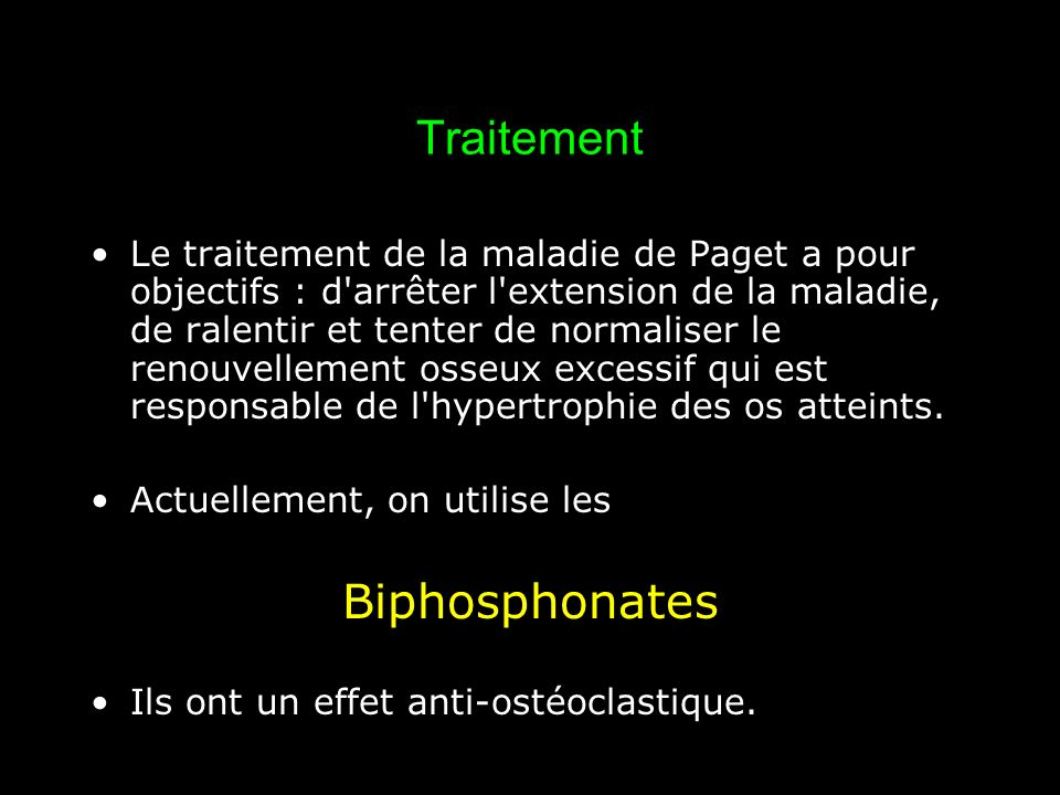Traitement Biphosphonates