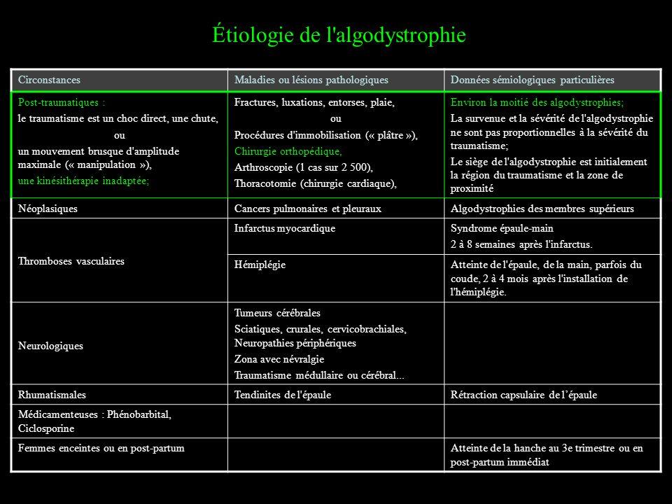 Étiologie de l algodystrophie