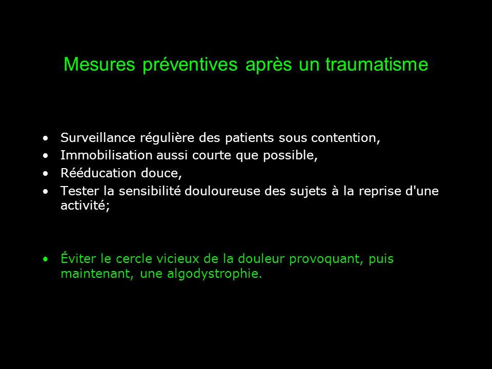Mesures préventives après un traumatisme