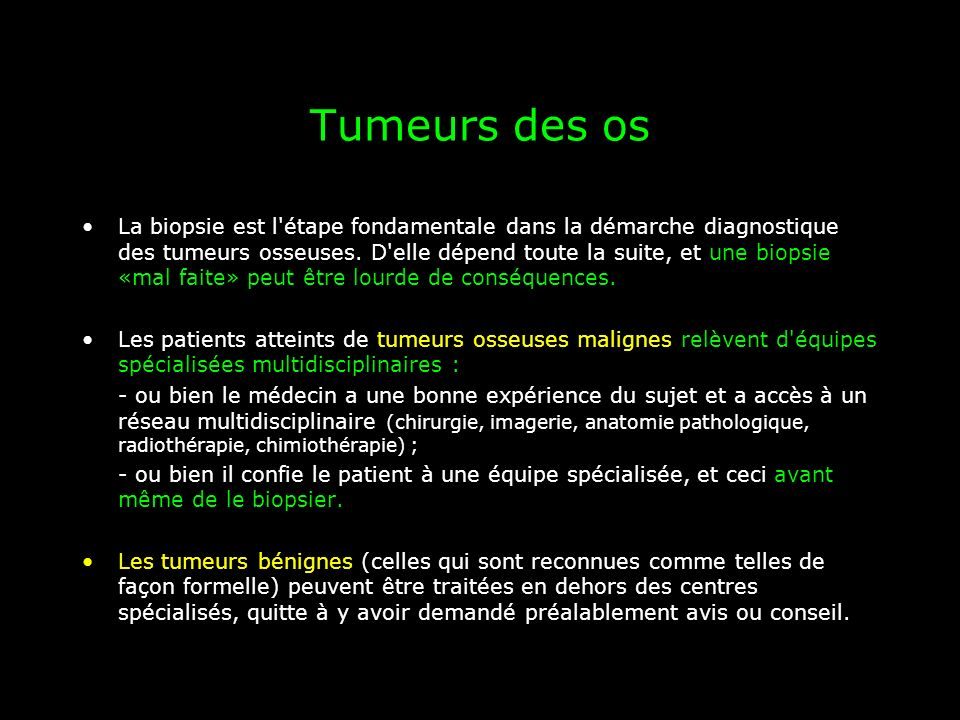 Tumeurs des os