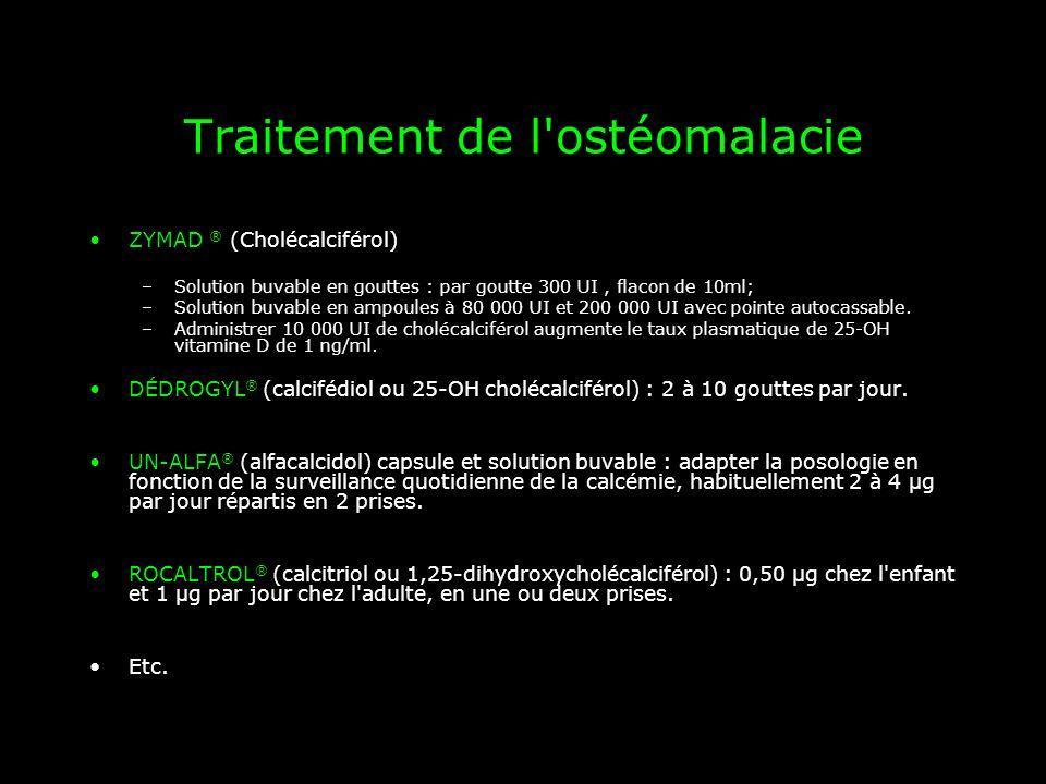 Traitement de l ostéomalacie