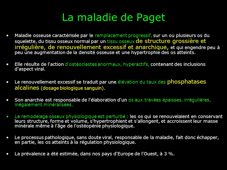 La maladie de Paget