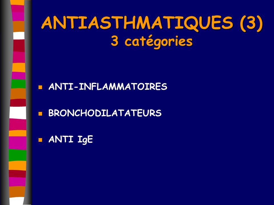 ANTIASTHMATIQUES (3) 3 catégories