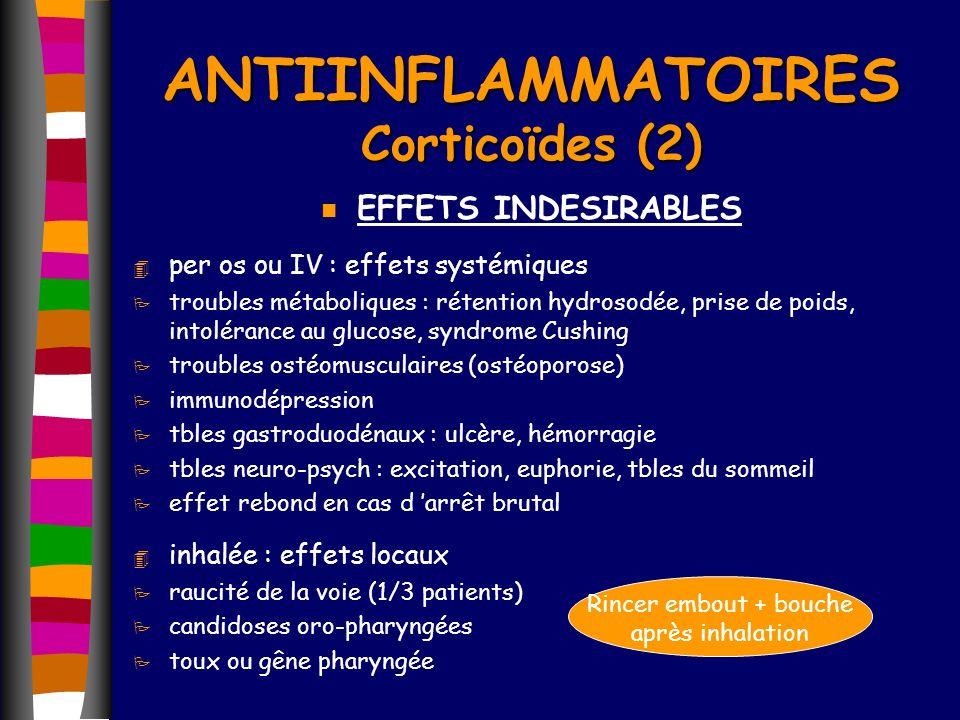 ANTIINFLAMMATOIRES Corticoïdes (2)