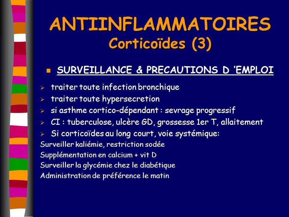 ANTIINFLAMMATOIRES Corticoïdes (3)