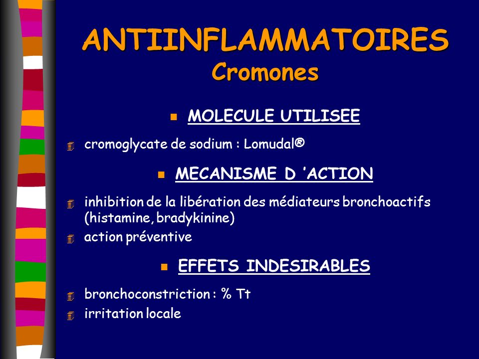 ANTIINFLAMMATOIRES Cromones
