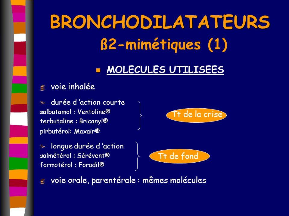BRONCHODILATATEURS ß2-mimétiques (1)