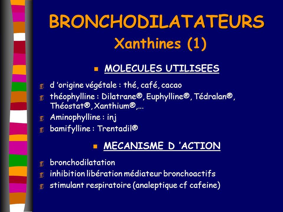 BRONCHODILATATEURS Xanthines (1)