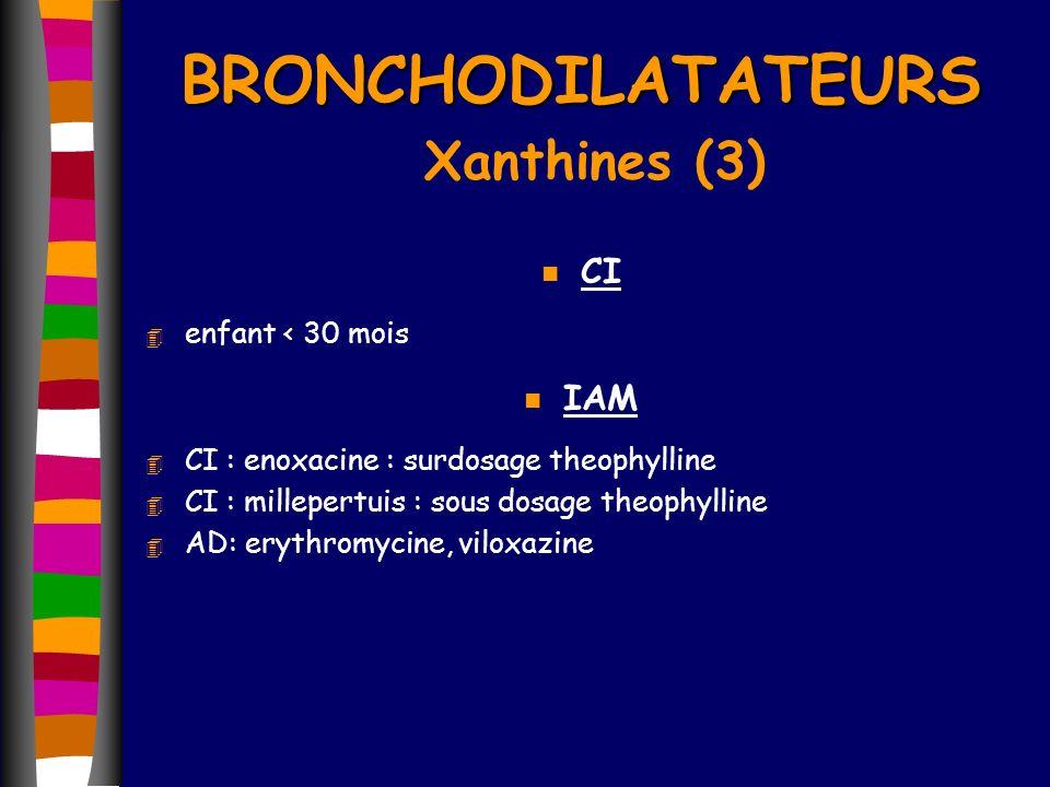 BRONCHODILATATEURS Xanthines (3)