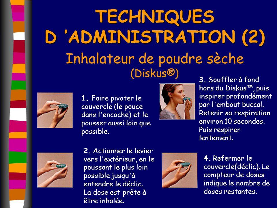 TECHNIQUES D 'ADMINISTRATION (2)
