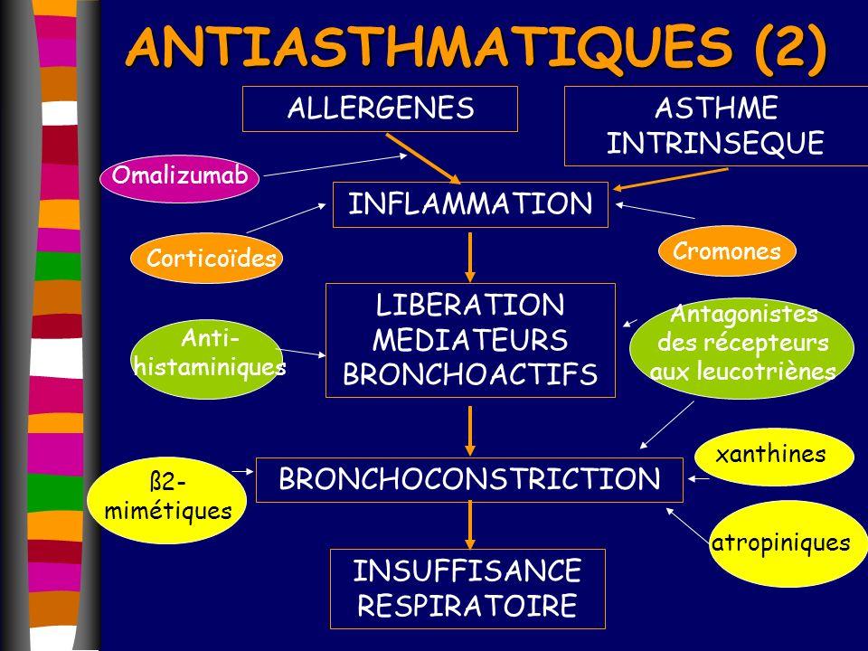 ANTIASTHMATIQUES (2) INFLAMMATION LIBERATION MEDIATEURS BRONCHOACTIFS