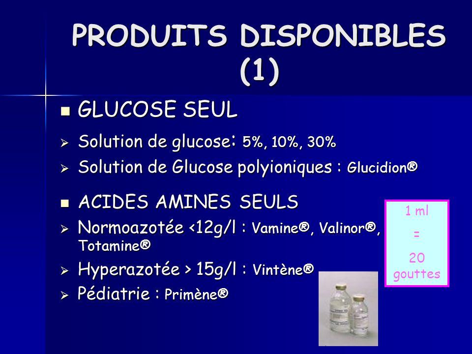 PRODUITS DISPONIBLES (1)