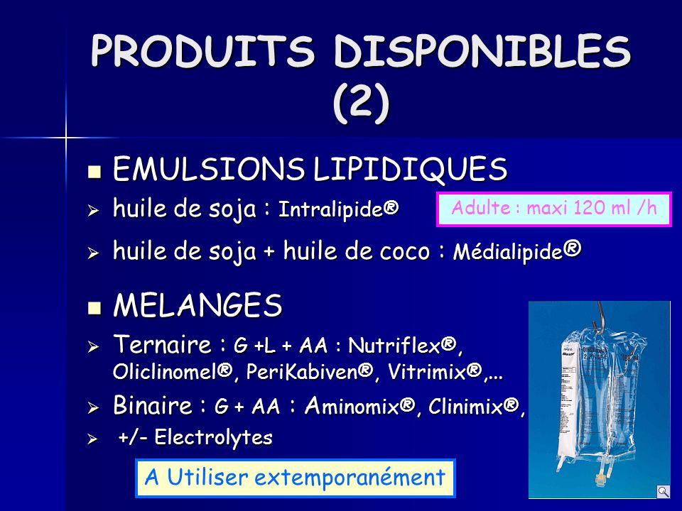 PRODUITS DISPONIBLES (2)