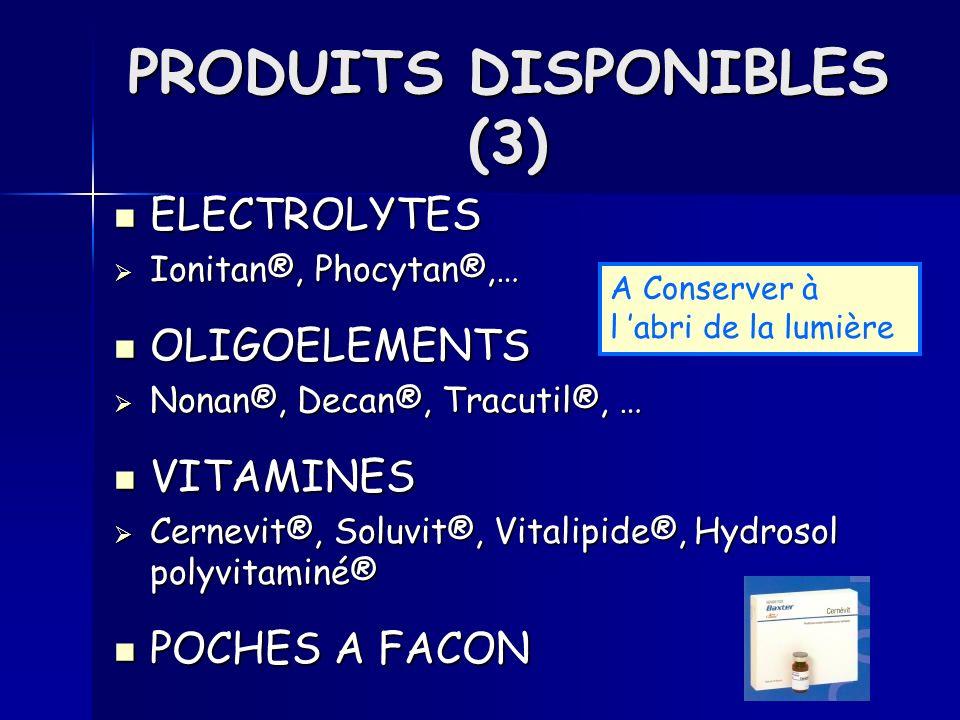 PRODUITS DISPONIBLES (3)