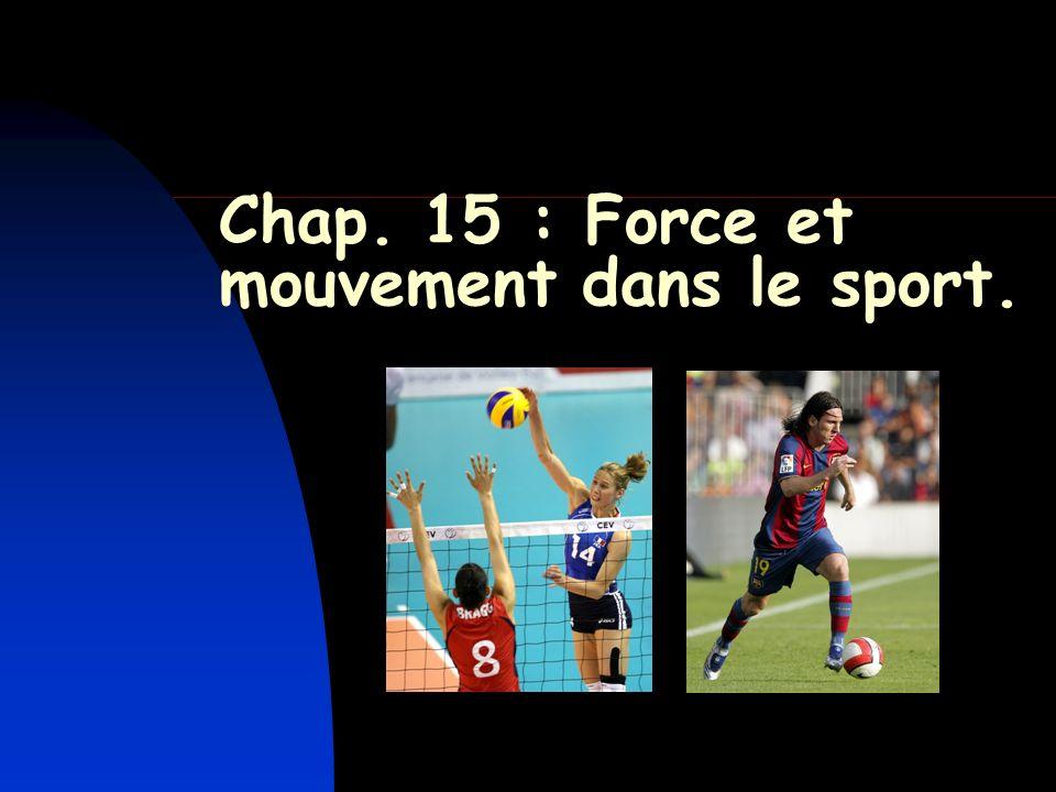 Chap. 15 : Force et mouvement dans le sport.
