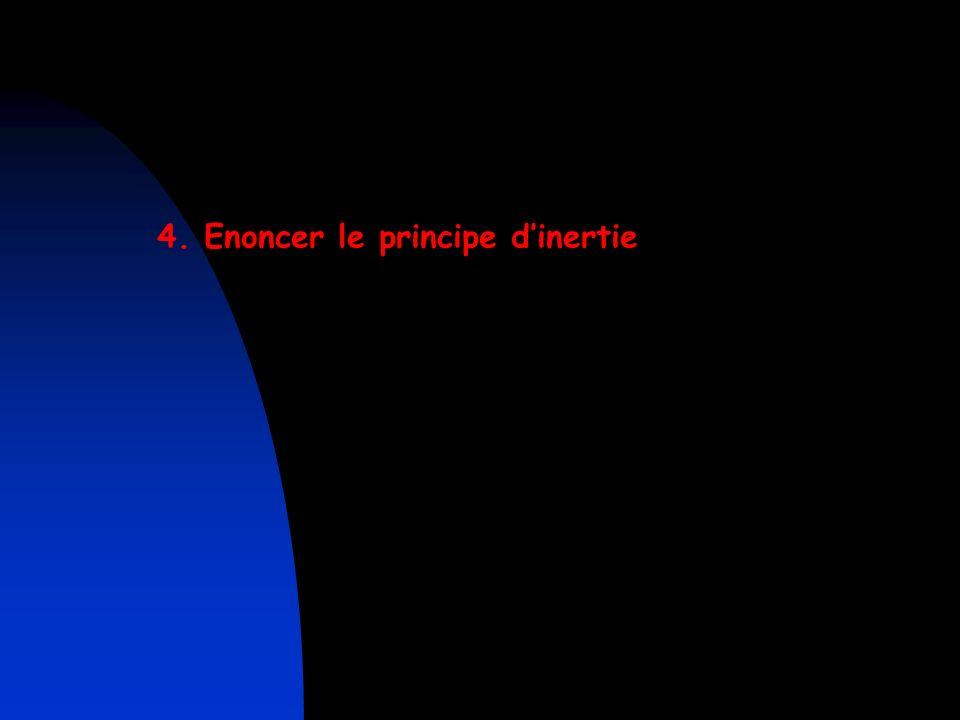 4. Enoncer le principe d'inertie