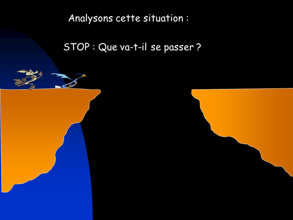 Analysons cette situation :