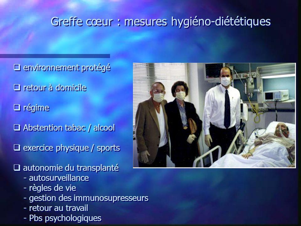 Greffe cœur : mesures hygiéno-diététiques