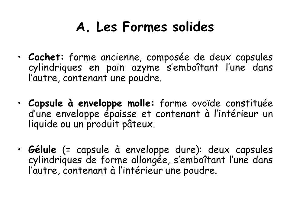 A. Les Formes solides