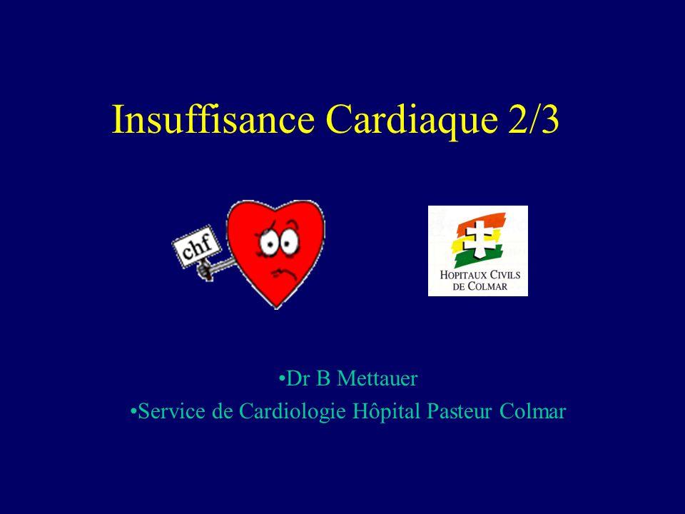 Insuffisance Cardiaque 2/3