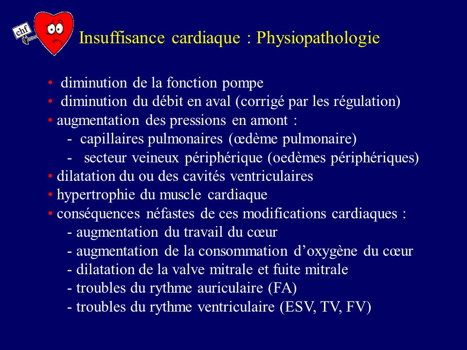 Insuffisance cardiaque : Physiopathologie