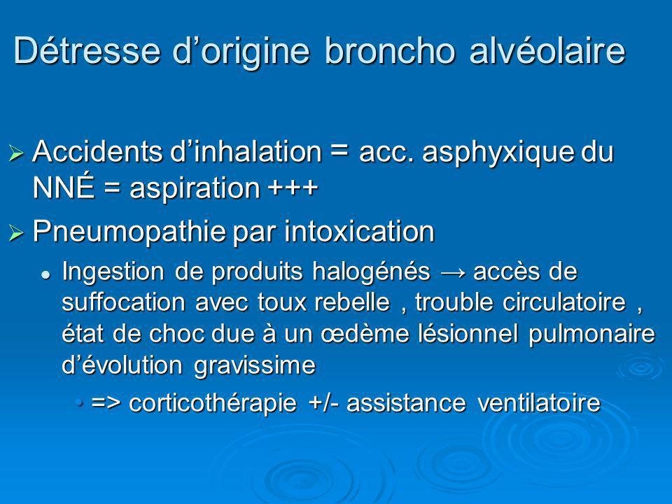 Détresse d'origine broncho alvéolaire