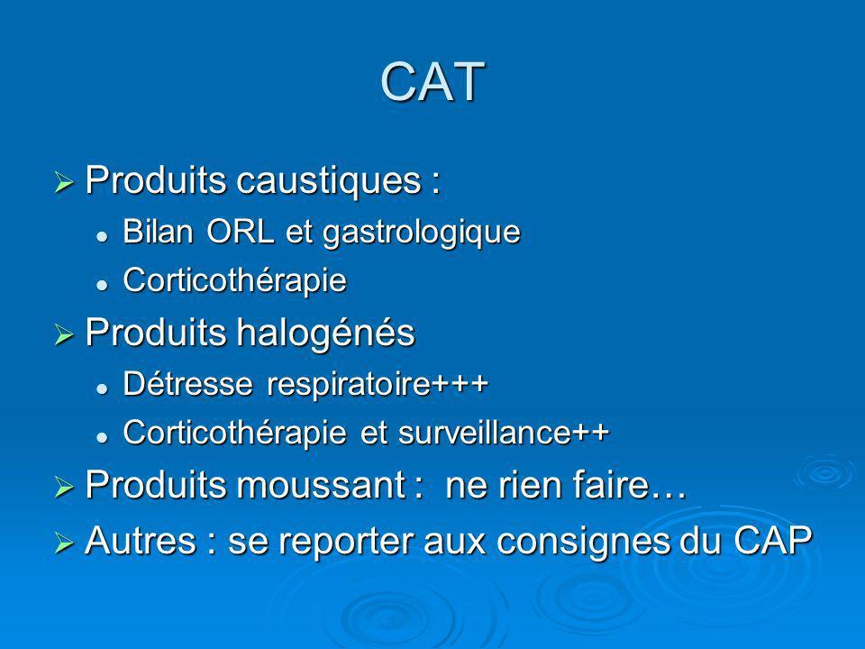 CAT Produits caustiques : Produits halogénés