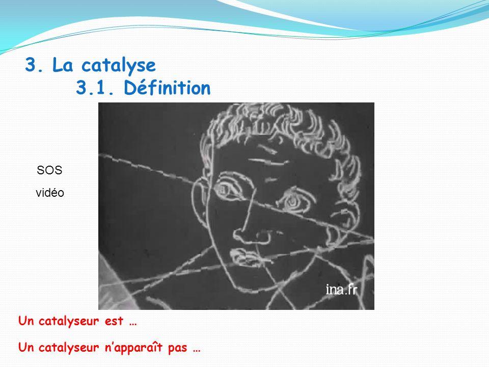 3. La catalyse 3.1. Définition