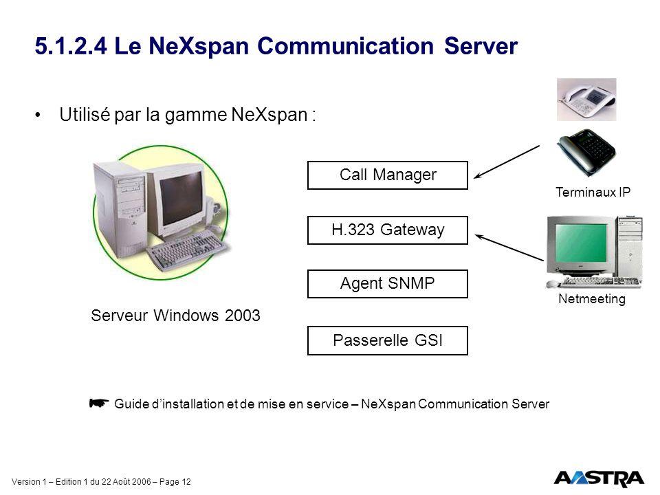 5.1.2.4 Le NeXspan Communication Server
