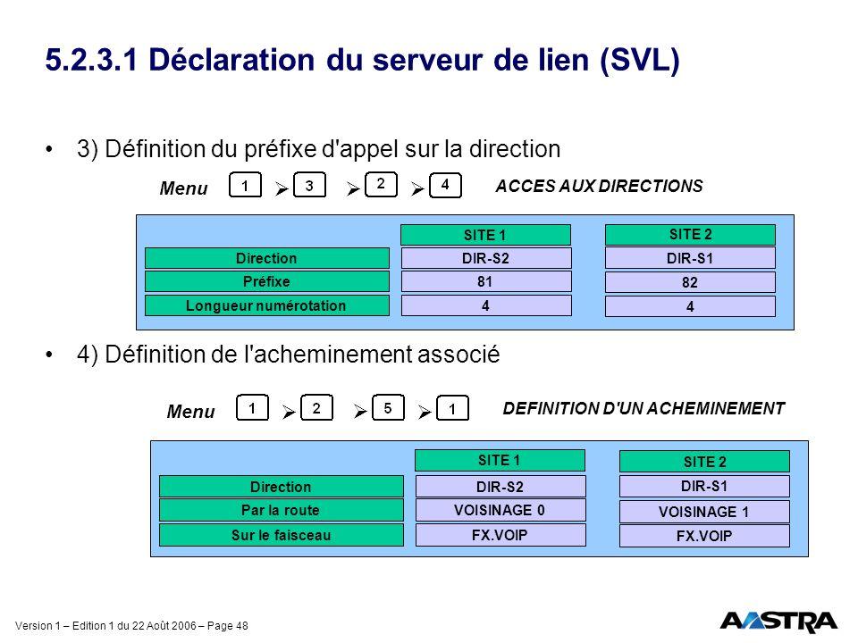 5.2.3.1 Déclaration du serveur de lien (SVL)