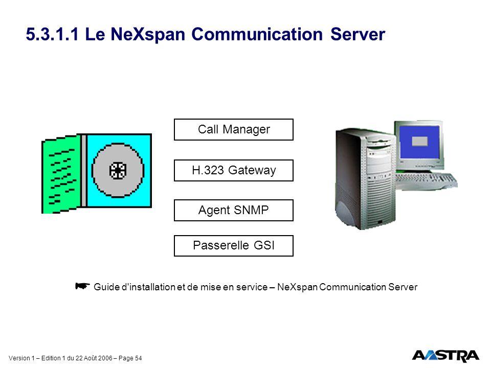 5.3.1.1 Le NeXspan Communication Server