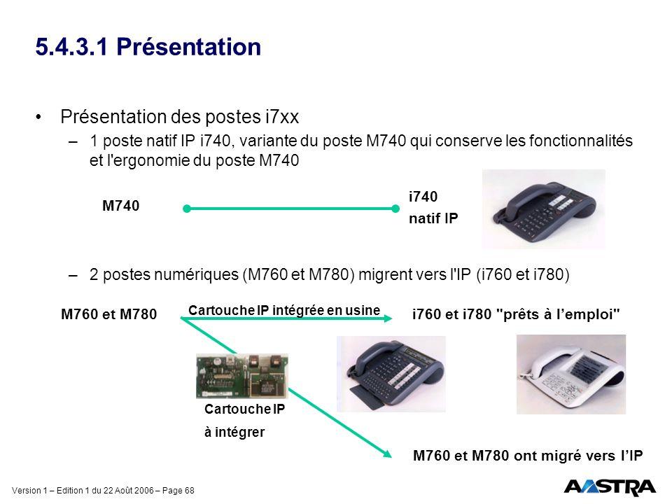 5.4.3.1 Présentation Présentation des postes i7xx