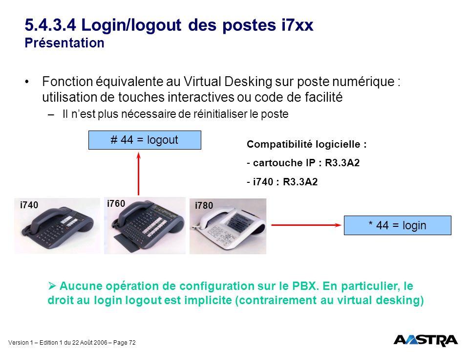 5.4.3.4 Login/logout des postes i7xx Présentation