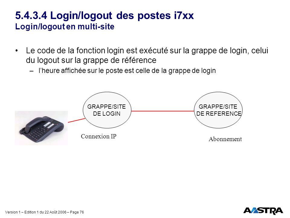 5.4.3.4 Login/logout des postes i7xx Login/logout en multi-site