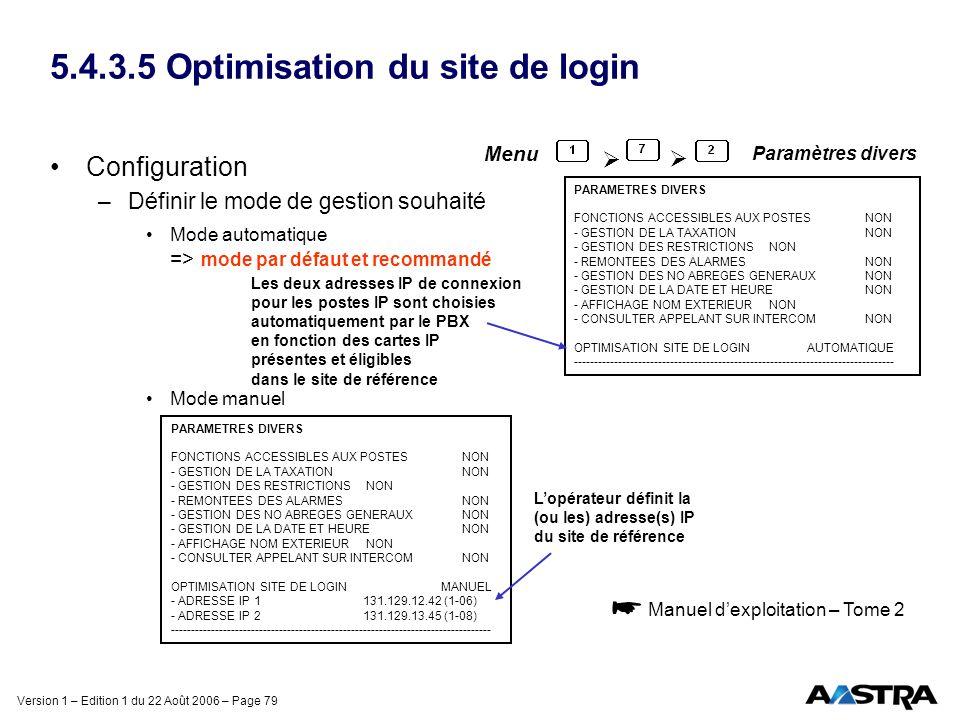 5.4.3.5 Optimisation du site de login