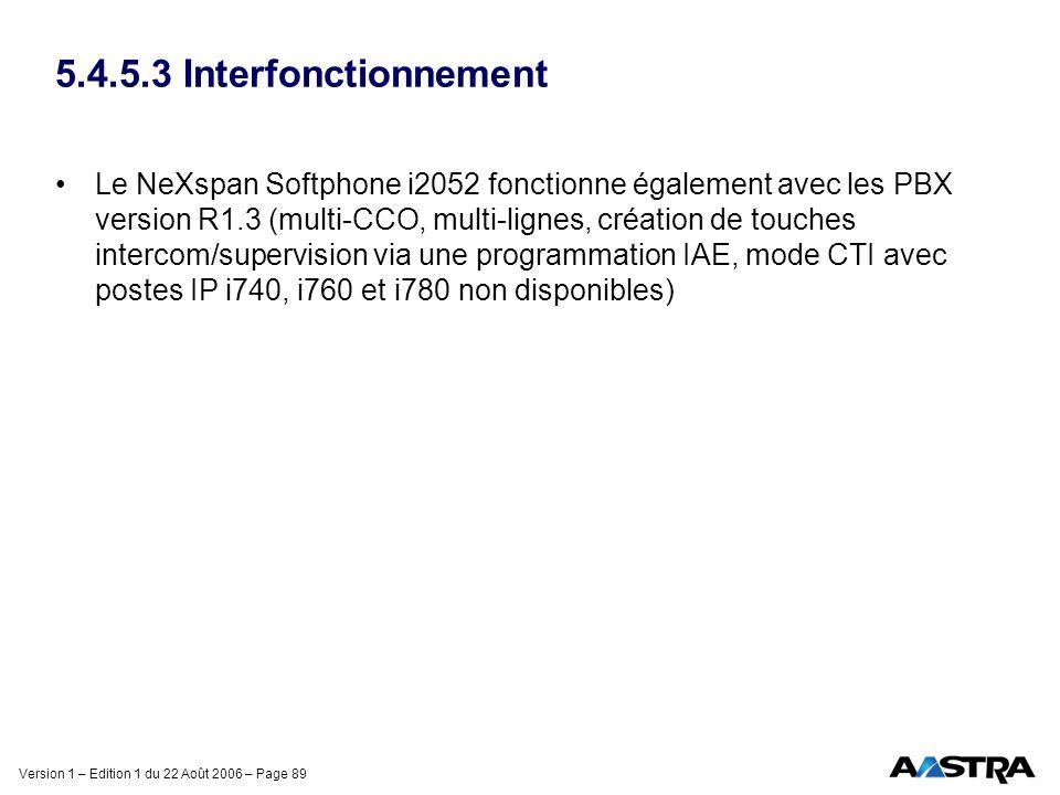 5.4.5.3 Interfonctionnement