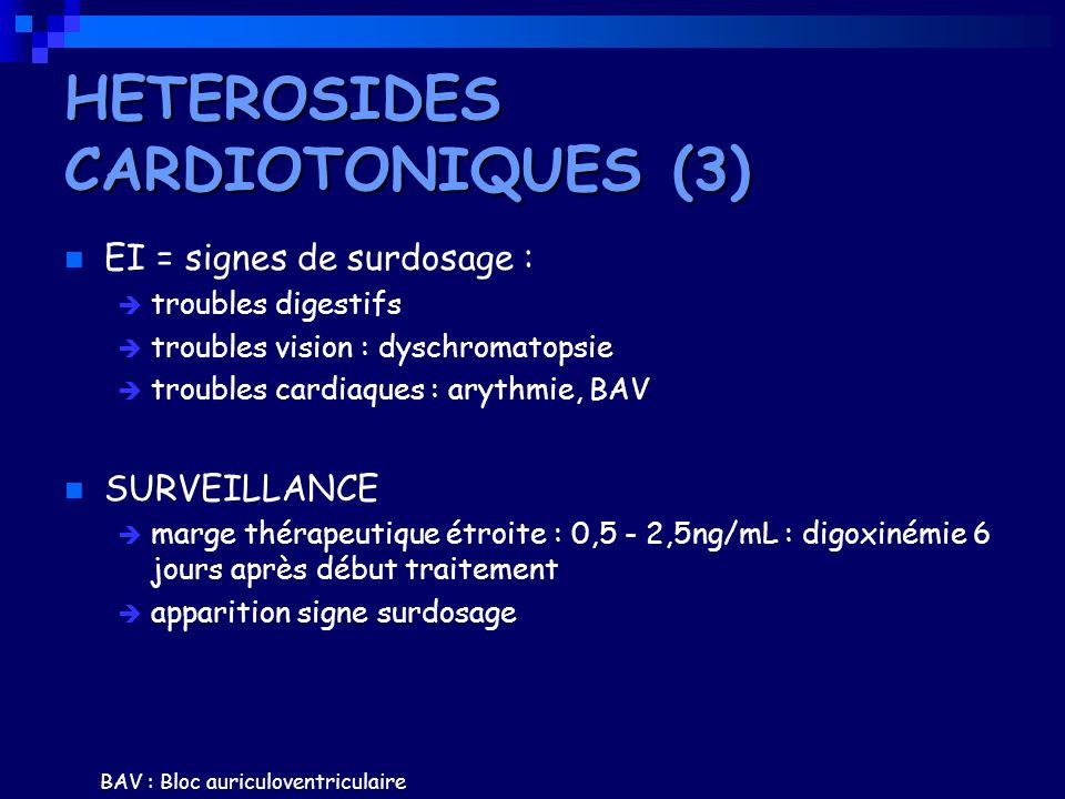 HETEROSIDES CARDIOTONIQUES (3)