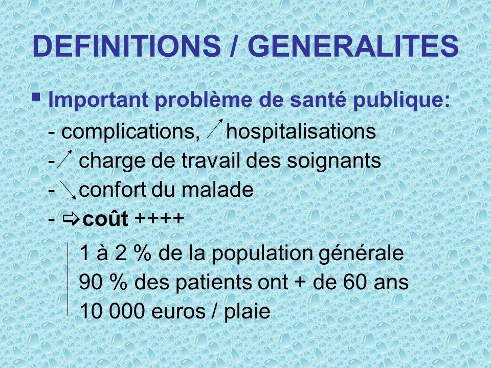 DEFINITIONS / GENERALITES