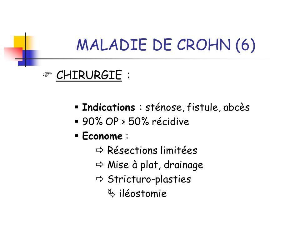 MALADIE DE CROHN (6)  CHIRURGIE :